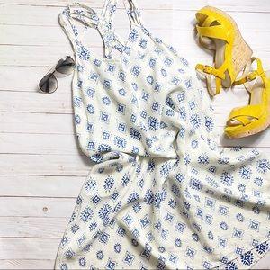 ARTISIAN NY- Boho Print Linen Dress